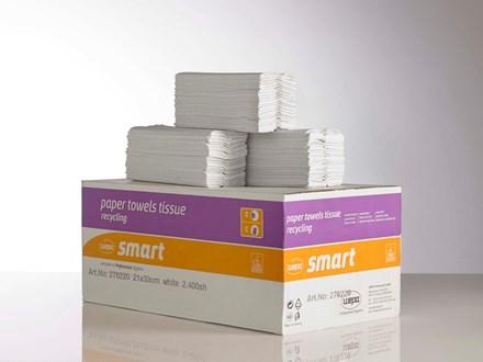 Handtowels, V-Fold, 2Ply White, 3200 Sheet