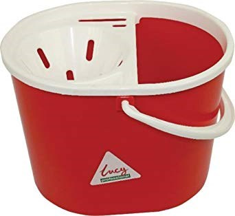 Bucket, Mop, Plastic, Lucy, Oval, Red