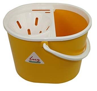 Bucket, Mop, Plastic, Lucy, Oval, Yellow