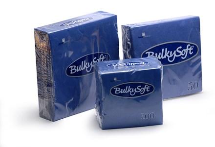 Napkins, BulkySoft, 24cm, 2Ply, Dark Blue, 4000