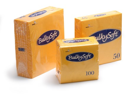 Napkins, BulkySoft, 33cm, 2Ply, 8Fold, Yellow, 2000