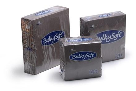 Napkins, BulkySoft, 40cm, 2Ply, 8Fold, Black, 2000