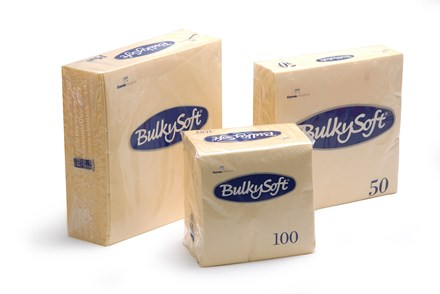 Napkins, BulkySoft, 40cm, 2Ply, 8Fold, Buttermilk, 2000