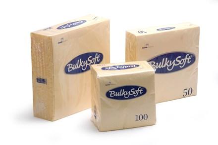 Napkins, BulkySoft, 40cm, 3Ply, Buttermilk, 1000