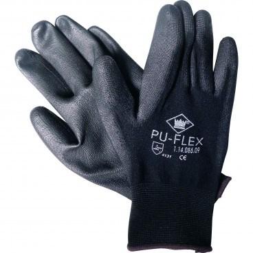 Gloves, Polyester, PU Flex, PU Coated, Black, 240 per Case