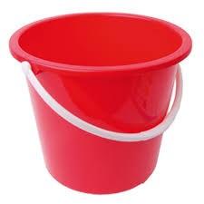 Bucket, Plastic, Value, Red, 10 Ltr