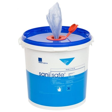 Wipes, Sanisafe, Blue Antibacterial, 1500