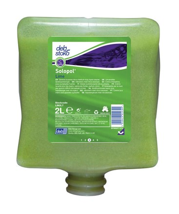 Soap, Hand, DEB Solopol Lime, 4 x 2Ltr