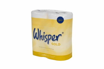 Whisper Gold Toilet Roll, 3Ply, White, 40 Rolls