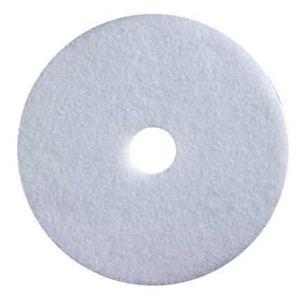 """Floor Pads, British Nova, White, 16"""", (406mm), 5 Pads"""