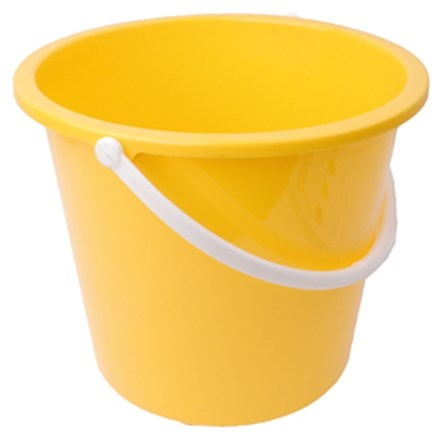 Bucket, Plastic, Value, Yellow, 10 Ltr