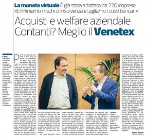 Venetex Corriere Imprese Nordest 10 aprile 2017