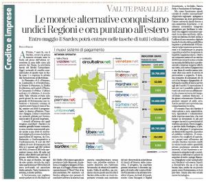 Sardex Venetex La Stampa 1 maggio 2017