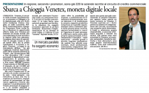 Venetex Il Gazzettino 9 aprile 2017
