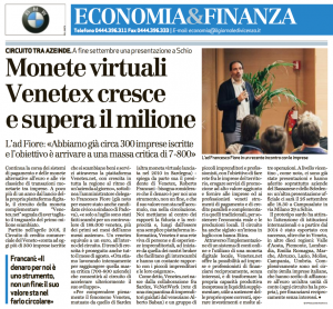 Venetex Il Giornale di Vicenza 9 settembre 2017