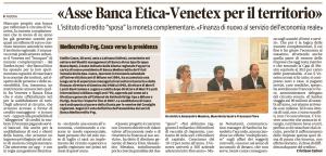 Venetex Banca Etica Finegil 22 luglio 2017