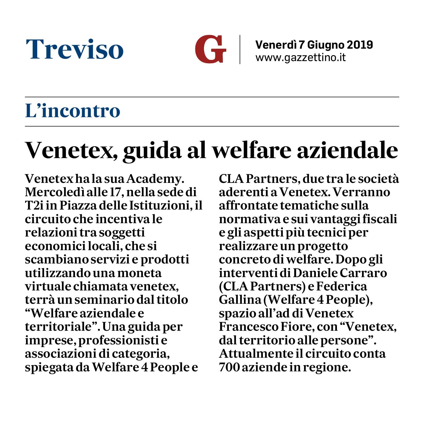 Gazzettino - 7 giugno 2019