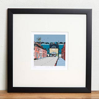 notonthehighstreet.com - Make Awards 2016 - Gifts For HIM winner Manchester City's Old Football Ground Maine Road Print