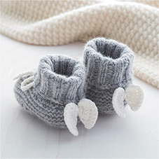 Notonthehighstreet.com - Angel Wings Cashmere Booties - by ATTIC