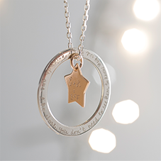 Notonthehighstreet.com - Personalised Eternity Star Necklace - by MERCI MAMAN