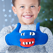 Notonthehighstreet.com - Warmsters Blue Gloves - by FOLDIE