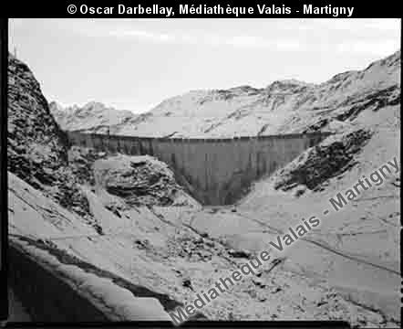 Exploitation électrique du barrage de Moiry