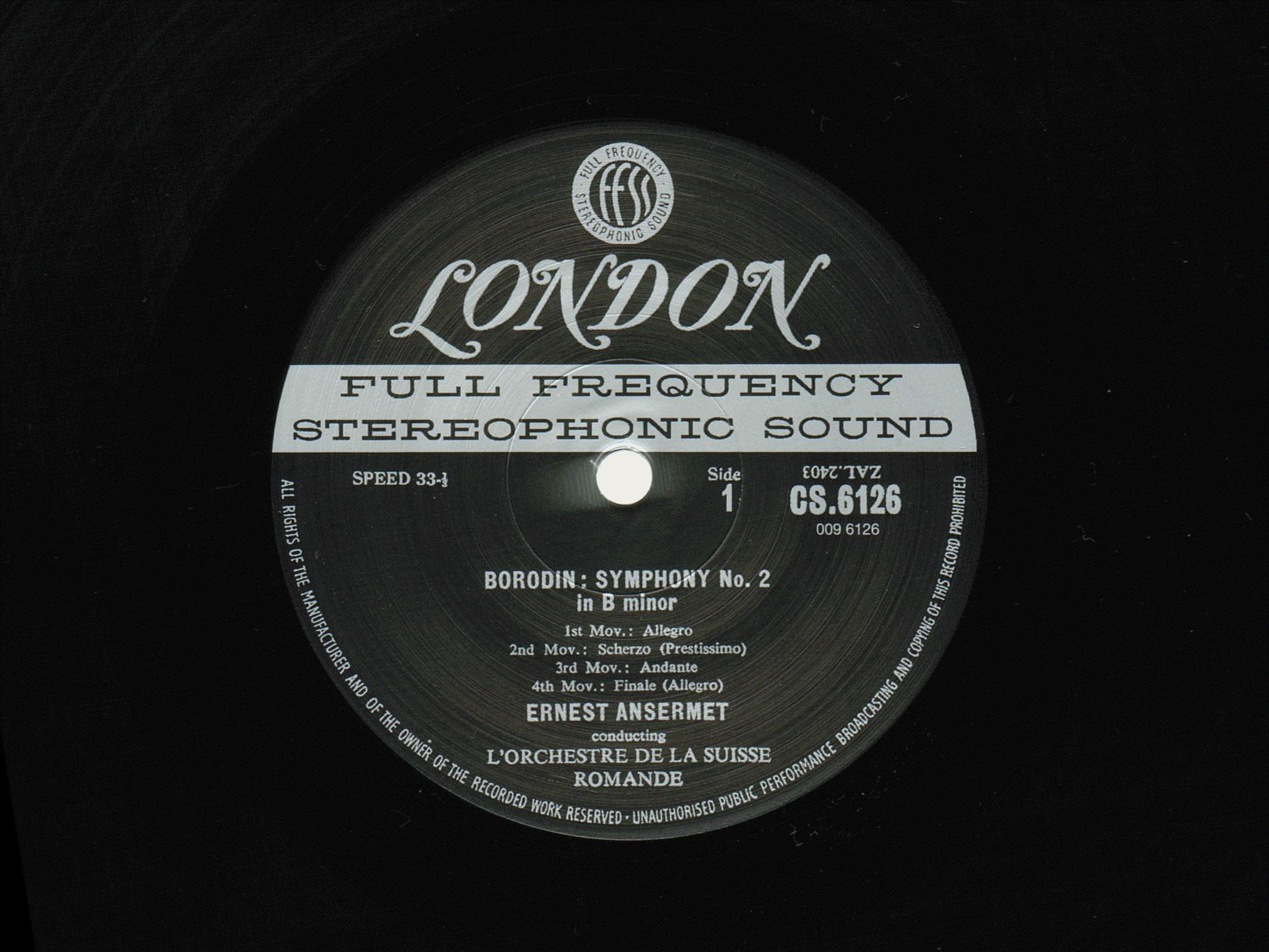 A. Borodin, Symphonie No 2, OSR, E. Ansermet, 1954
