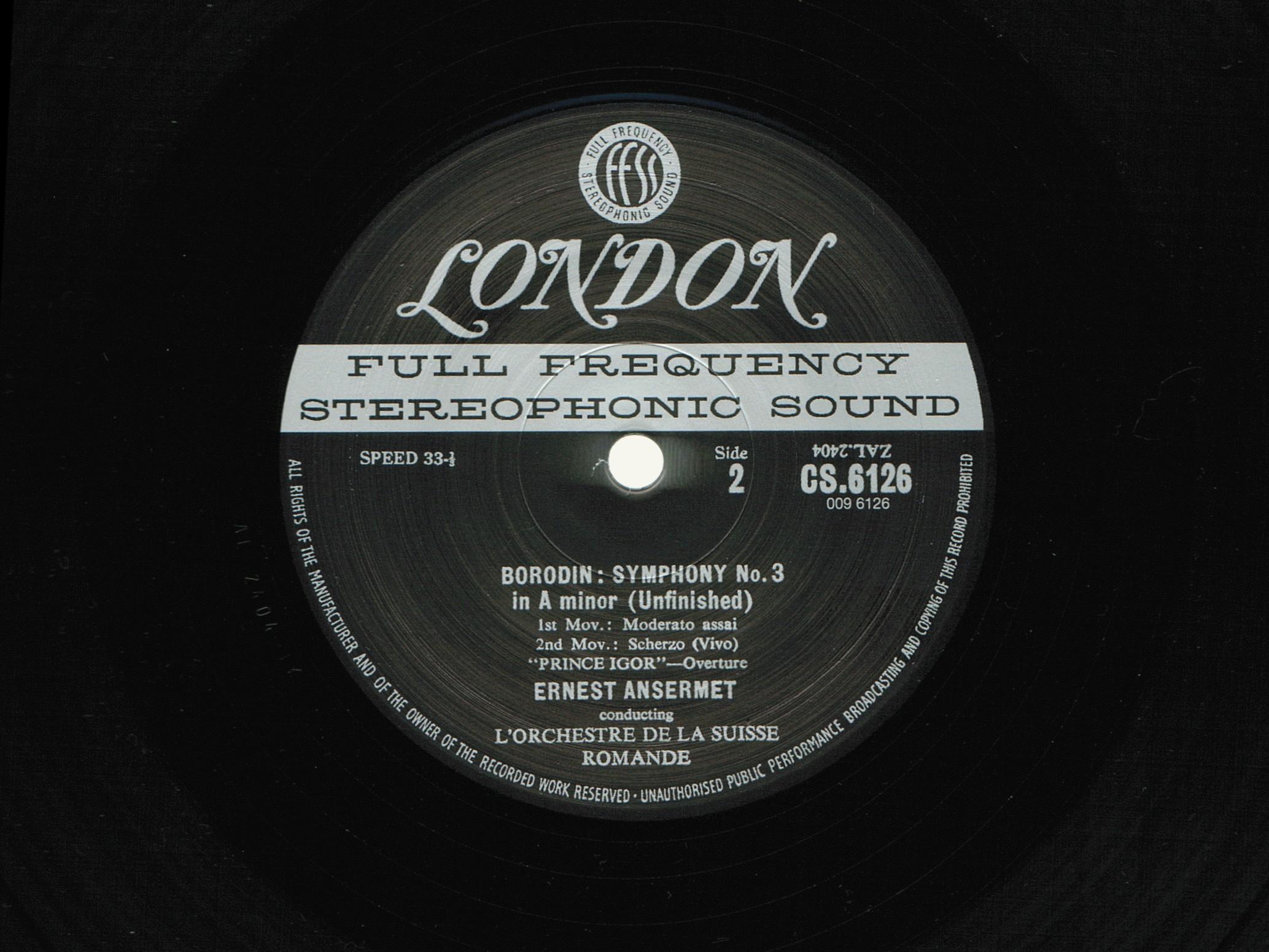 A. Borodin, Symphonie No 3, OSR, E. Ansermet, 1954