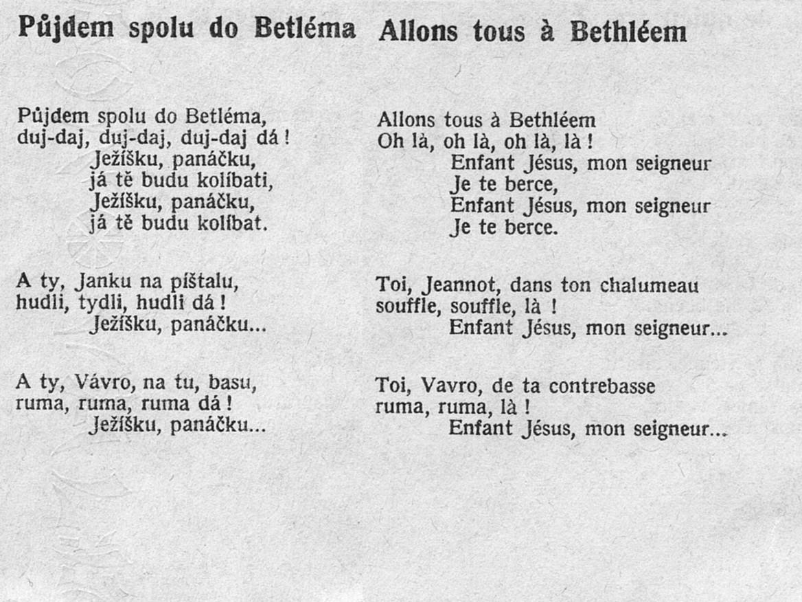 8. Pujdem spolu do Betléma - Allons tous à Bethléem (Tchécoslovaqie), Basia Retchitzka
