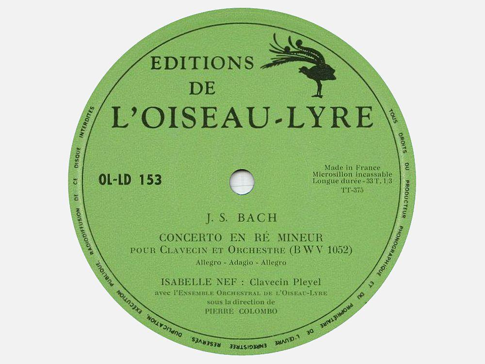 J.S. Bach, BWV 1052, Isabelle NEF, EOOiseauLyre, Pierre COLOMBO
