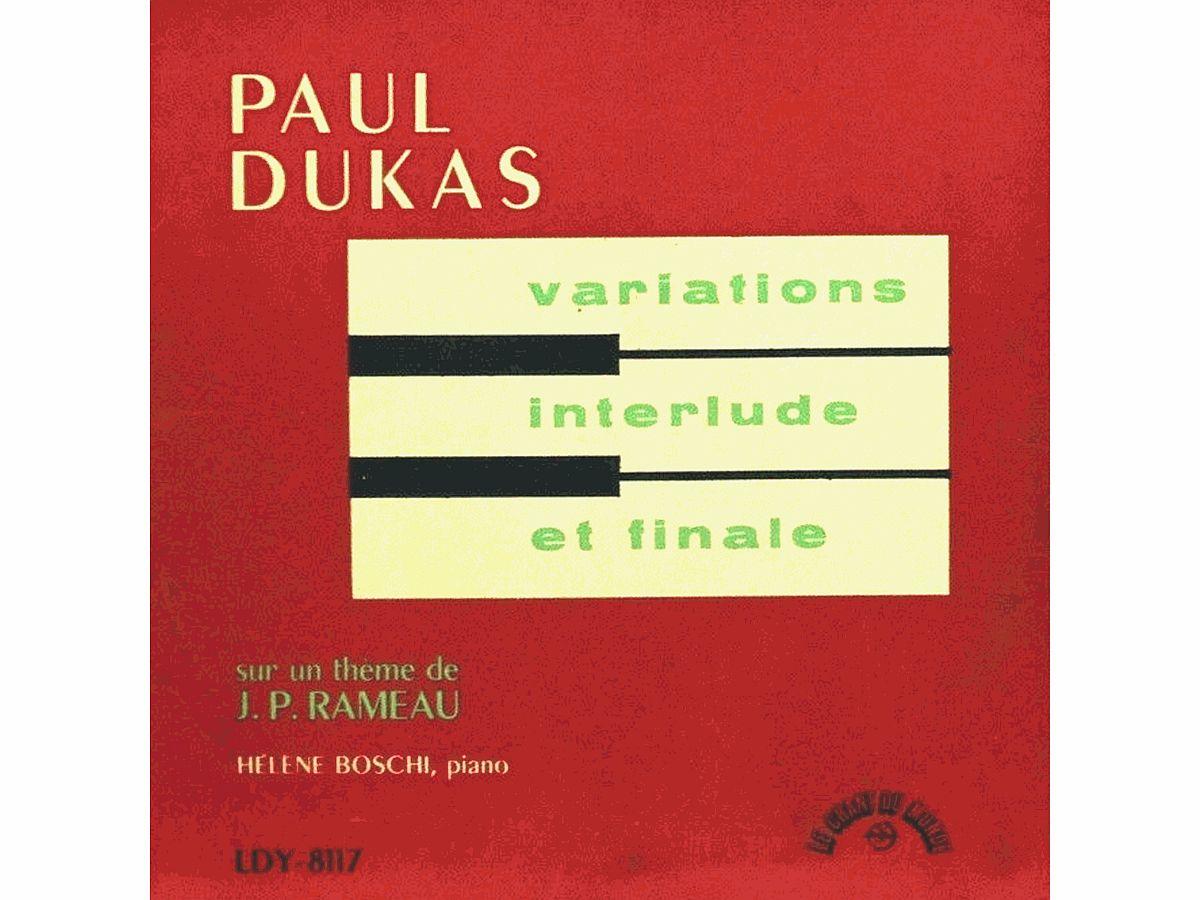 Paul Dukas, Variations, interlude et finale sur un thème de Rameau, Hélène BOSCHI, 1954