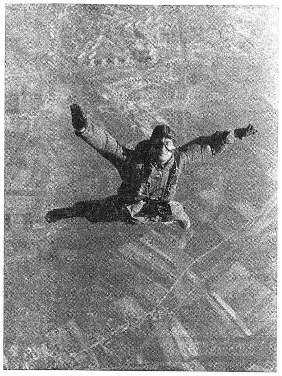 Saut en parachute de Maurice Gloor