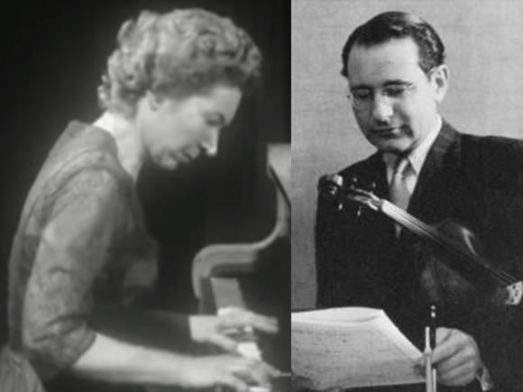 R. Schumann, Sonate No 1 pour violon et piano, Peter Rybar, Hélène Boschi, 10 nov. 1960