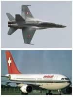 L'aviation militaire et civile en Suisse