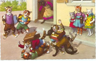 Les chats de Max Kunzli en cartes postales