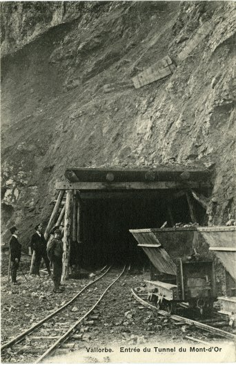 Vallorbe tunnel du mont d'or 13.06.1911