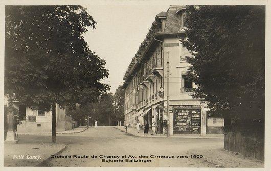 Pt Lancy Av Ormeaux et Rte de Chancy 1900 env