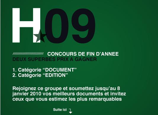 CONCOURS 2009 - 2 catégories