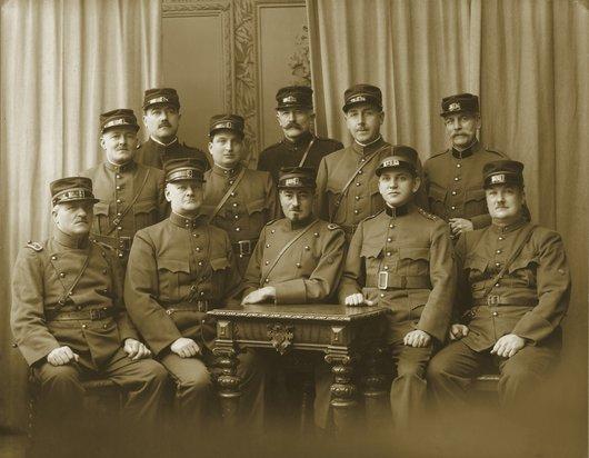 Etat major des Sapeurs Pompiers du Petit-Saconnex en 1931