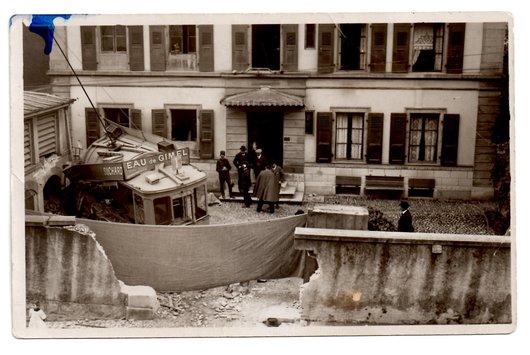 Accident de tram au Valentin à Lausanne le 27.10.1913