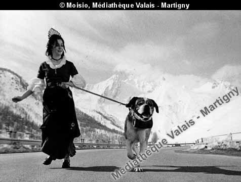 Publicité pour le tunnel du Saint-Bernard, vers 1960