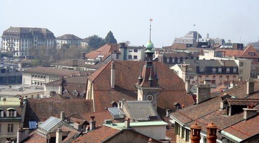 Vue sur L'Hôtel de Ville et Palais de Justice de Montbenon
