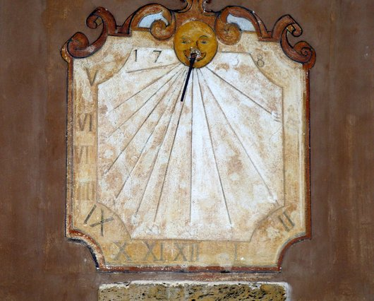 Cadran solaire. Chapelle de Notre-Dame-des-Sept-Douleurs