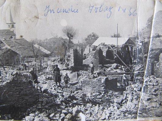 Incendie dans le village d'Arbaz - 1936