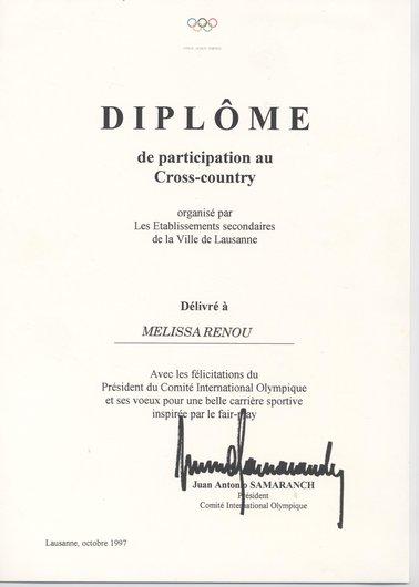 Diplôme Mélissa