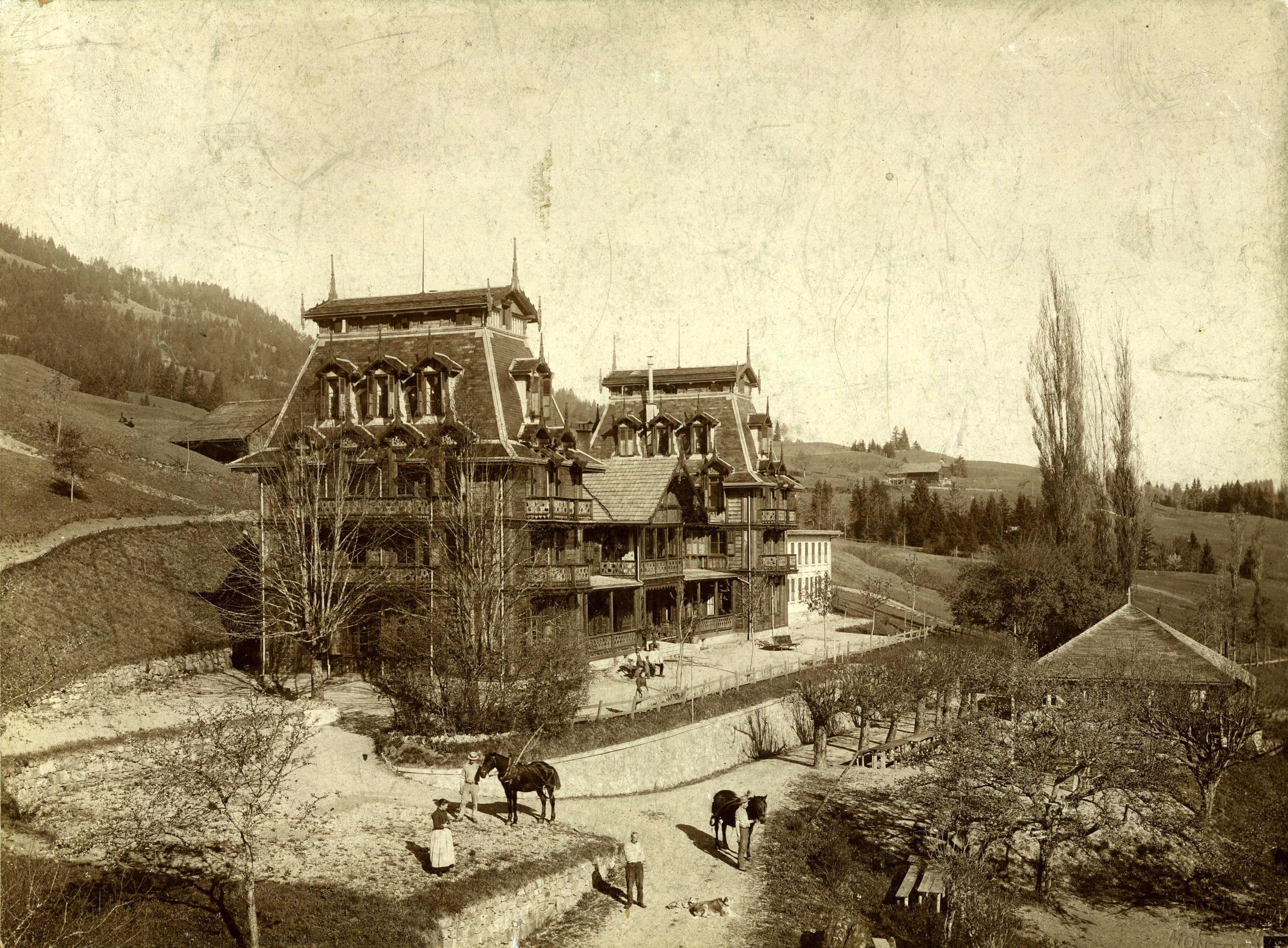 Le Grand Hôtel des Bains du Pâquier Montbarry, dont V. Tissot fut le promoteur.