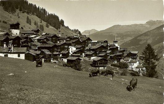 Grimentz, en 1939