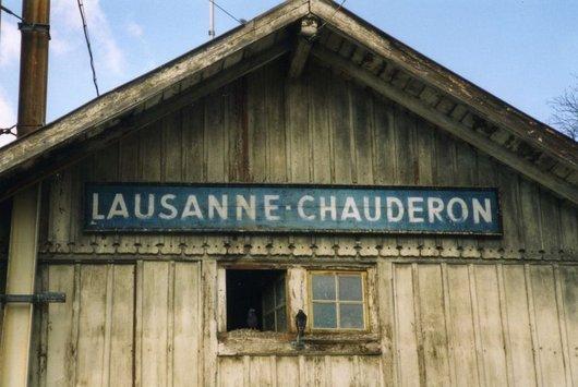 Ancienne gare du Lausanne-Echallens-Bercher