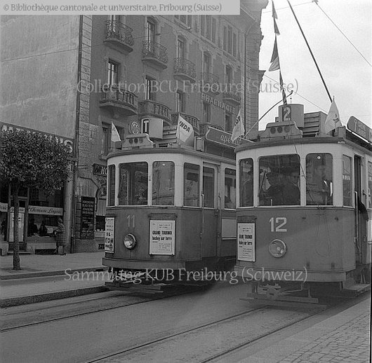 Fribourg. Trams 11 et 12