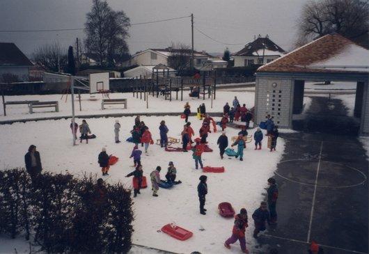 Cour d'école hiver